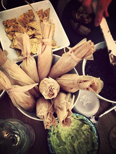 Monica Shaw shares her recipe for Vegetarian Tamales with butternut squash and goat cheese