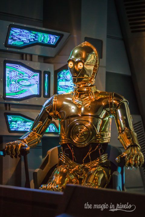 This portrait of C-3PO was taken during the Star Tours attraction at Disney's Hollywood Studios.  For this picture, I wanted to stray away a...