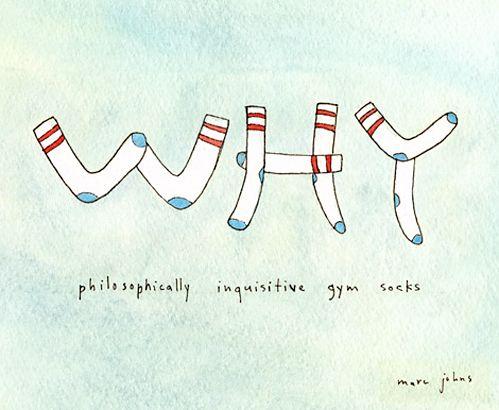 philosophically inquistive gym socks - Marc Johns