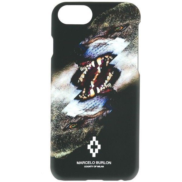 Marcelo Burlon County Of Milan wolf print iPhone 6 plus case ($67) ❤ liked on Polyvore featuring men's fashion, men's accessories, men's tech accessories and black