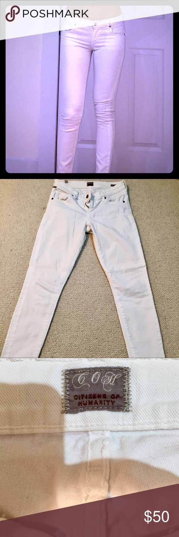 SALE: Citizens of Humanity White Skinny Jeans Just reduced - Joe's skinny white jeans are a summer and vacation staple, fitted all the way down to the ankle. Citizens of Humanity Jeans Skinny