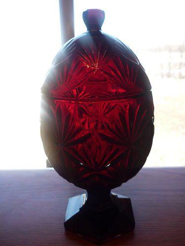 Luminarc Cris D'Arques Durand Ruby Red Glass