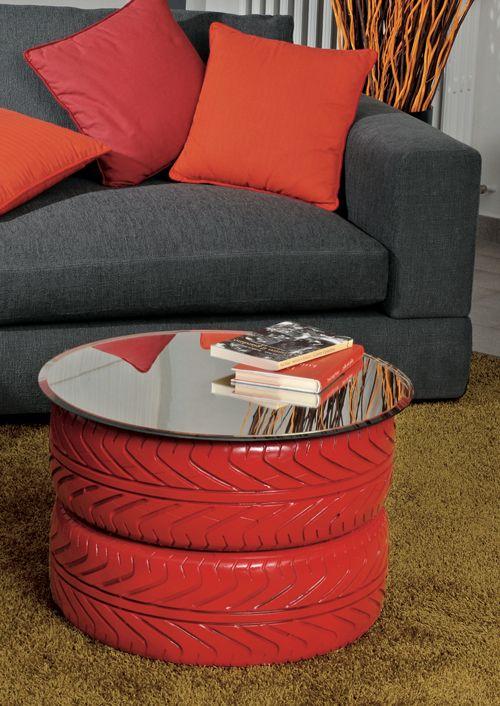 17 migliori idee su pneumatici usati su pinterest arte - Costruire tavolino ...