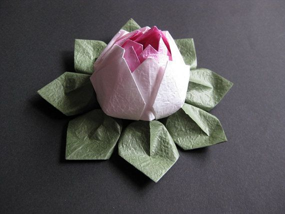 Love the texture in this #origami lotus <3