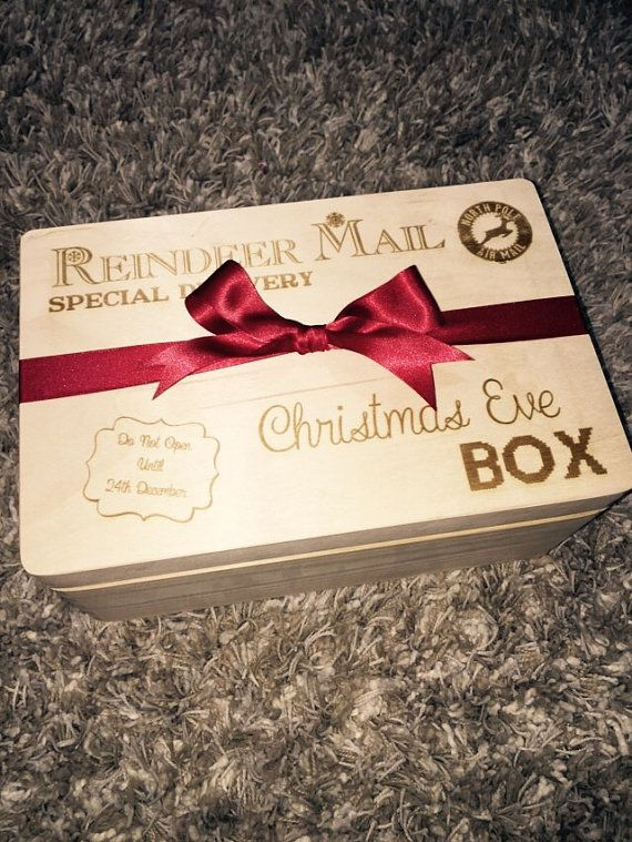 Christmas Eve box Wooden This box is 30 x 20 x 14cms Beautiful Christmas Eve box that will last year after year to become a brand new family