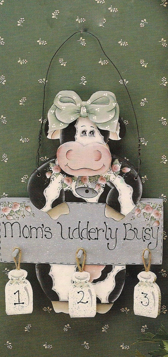 Kitchen cow with a sign that says Mom's by MammawsDecorativeArt, $20.00