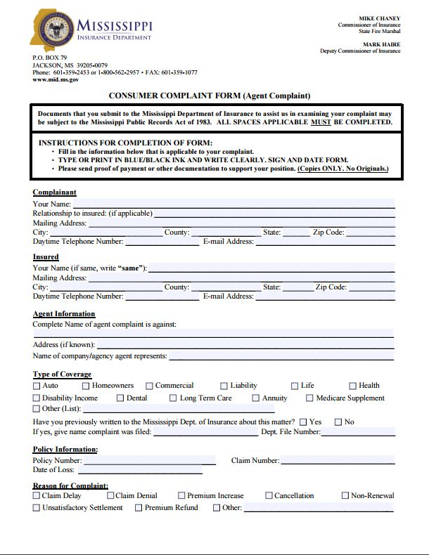 112 best Commissioners Complaint Form By State images on Pinterest - medicare claim form