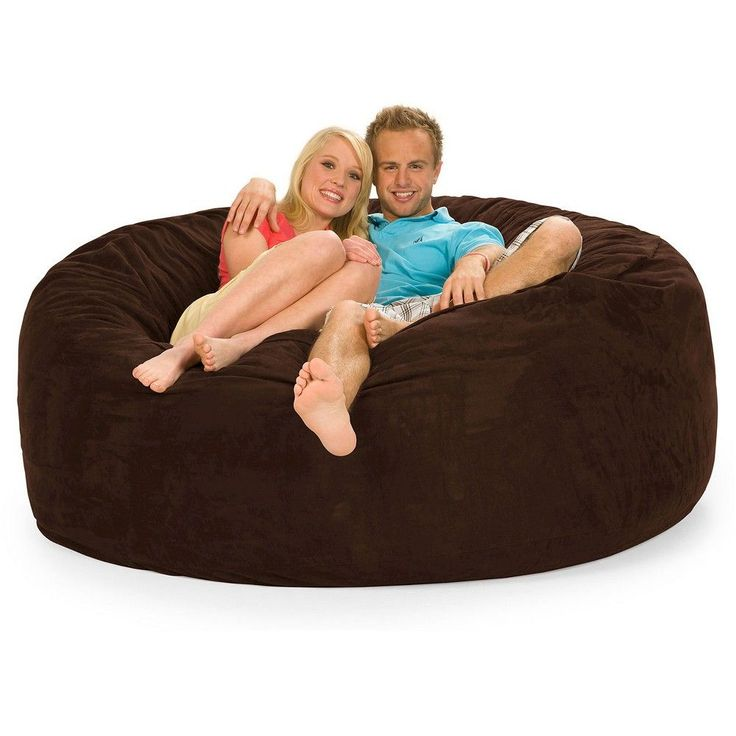 Huge Memory Foam Bean Bag 6 ft - Chocolate - Relax Sacks, Brown