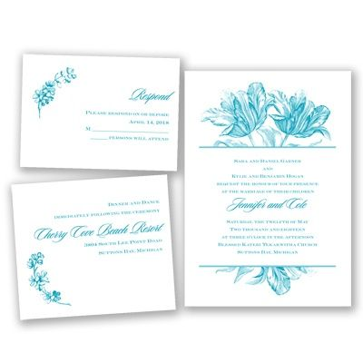 Tulip Flower Wedding Invitation Bundle   Budget, Value, Inexpensive At  Invitations By Davidu0027s Bridal