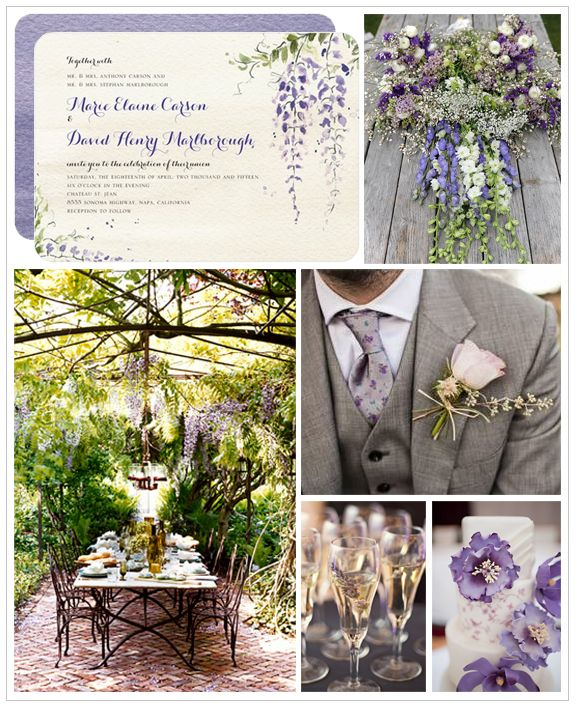 This spring wedding inspiration board brings floral and botanical touches into romantic outdoor decor. See more wedding inspiration at WeddingPaperDivas.com.