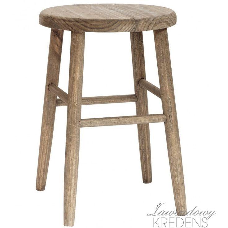Prosty stołek w stylu skandynawskim firmy Hubsch. Więcej mebli skandynawskich na http://lawendowykredens.pl/pl/134-meble-hubsch