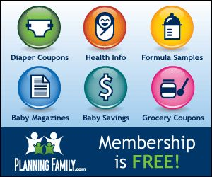 Sign up for free to receive free baby coupons, free formula samples, free baby magazines and more