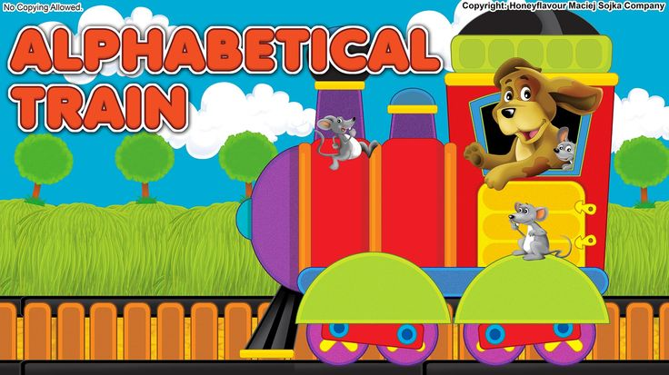 Alphabetical train for kids - reading EN