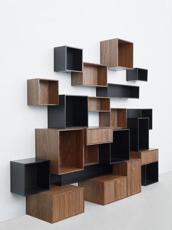 Librero cubos bicolor