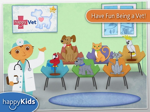 Happy Kids- Veterinarian.