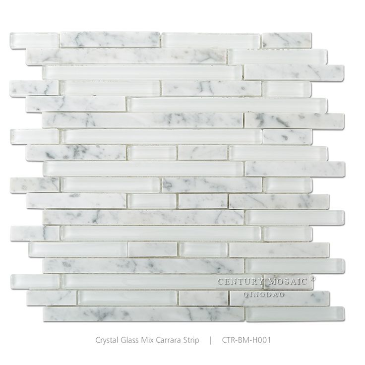 Kitchen Glass Tile Strip Backsplash
