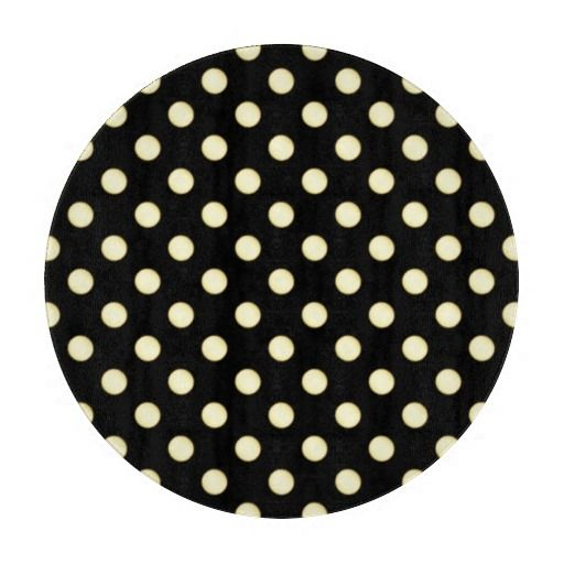 1 Dot Pattern Black - Round Cutting Board - Rectangular also available for the #Kitchen