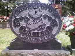 "Lane Frost.At 3:30 PM, in chute # 7, his bull rope wrapped tightly around his hand, seated on the large, snorting brindle bull ""Takin' Care Of Business"" Lane nodded his head and gave his familiar ""OK boys, OK boys!"" In less than 15 seconds Lane Frost was gone from this world forever."