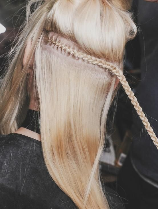 This would work well when you want a headband braid and you want an easy way to conceal it