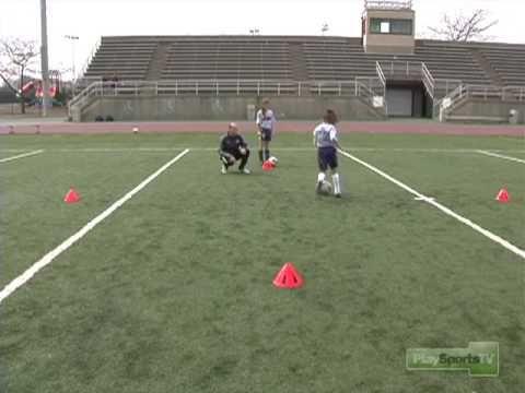 Soccer Drills: Dribbling and the Cruyff Turn