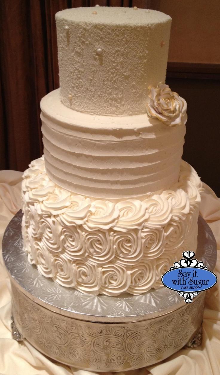 Buttercream Wedding Cakes Pinterest