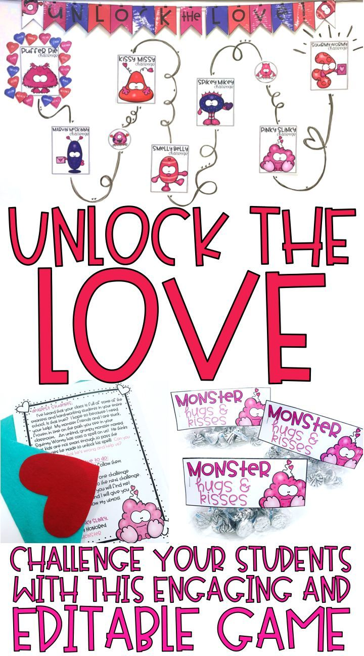 Unlock the love valentineus day math games editable challenges