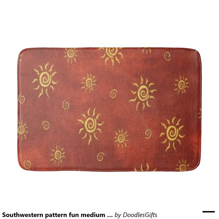 Southwestern pattern fun medium bathmat bath mats