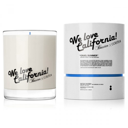 We're absolutely loving this (sold out) candle from Baxter of California. We Love California, too!