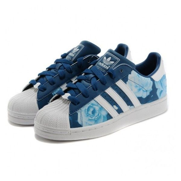 My new shoes ,adidas superstar 2 womens bleu marine rose blanc formateurs
