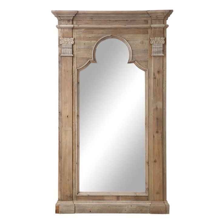 Architectural Wooden Leaner Mirror