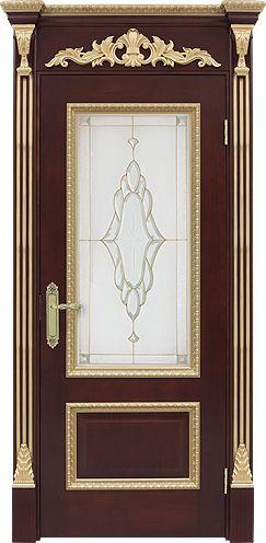 Межкомнатная дверь «Капри». Отделка «рамиада» #дверирулес #двери #межкомнатные…