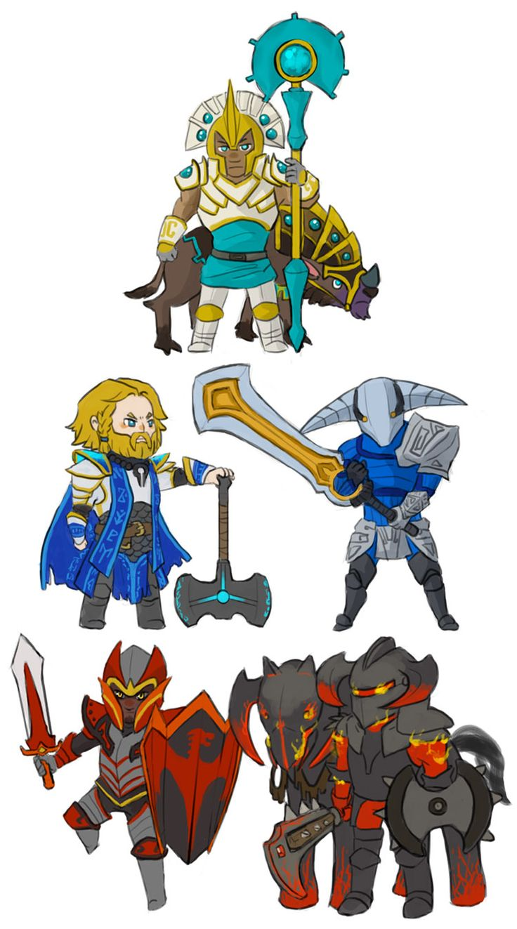 Dota 2 - Chibi Knights by spidercandy on deviantART