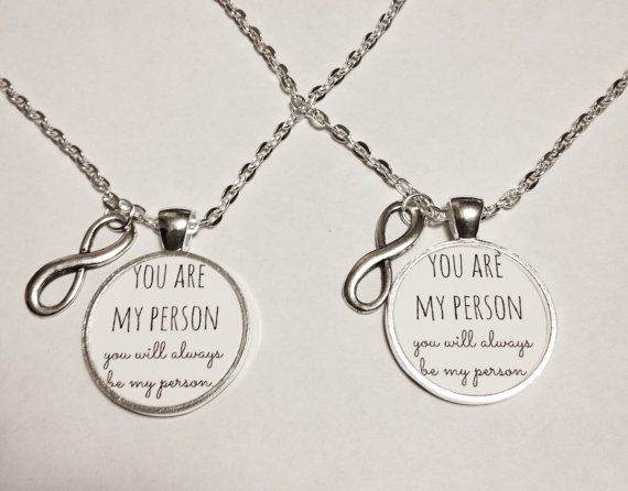 2 Necklaces Infinity You Are My Person Quote by HeavenlyCharmed