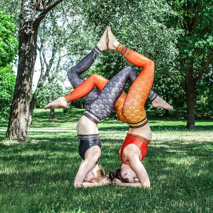 Printed LEGGINGS MANDALA for Yoga Fitness Pilates Dance ACTIVEWEAR (orange or grey) by SecondYouClothing on Etsy