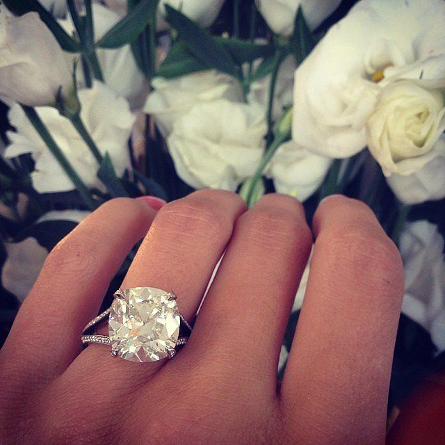 Big Engagement Ring Inspiration | POPSUGAR Love & Sex