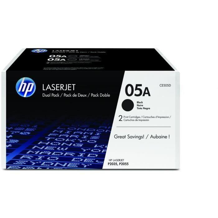 HP – Pack de 2 Cartouches de toner 05A – 2 x 2300 pages – Noir