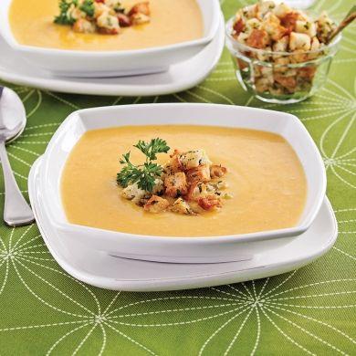 Voici un potage gourmet pour entamer un repas des Fêtes parfait!