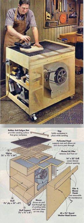 Dust-Free Downdraft Sanding Table Plans - Sanding Tips, Jigs and Techniques | http://WoodArchivist.com