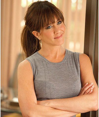 Jennifer Aniston - OMG. So cute with her brown hair, and without the chin implants.