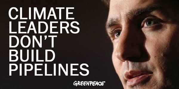On #WorldEnvironmentDay Canadian Prime Minister @JustinTrudeau is flying around promoting the massive failing #tarsands pipeline his government just bought.     Justin Trudeau #climate leaders don't buy pipelines.    #ActOnClimate #cdnpoli #bcpoli #StopKM #WaterIsLife