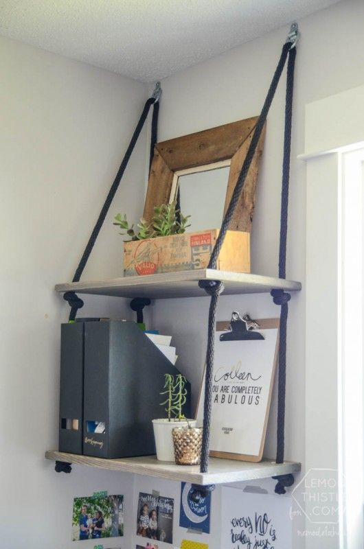 Best 25+ Rope shelves ideas on Pinterest | Easy shelves, DIY furniture  guide and Hanging decorations