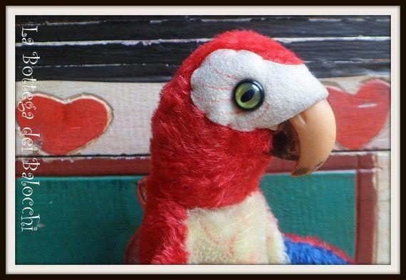 Steiff Lora marionetta pappagallo vintage. di Labottegadeibalocchi