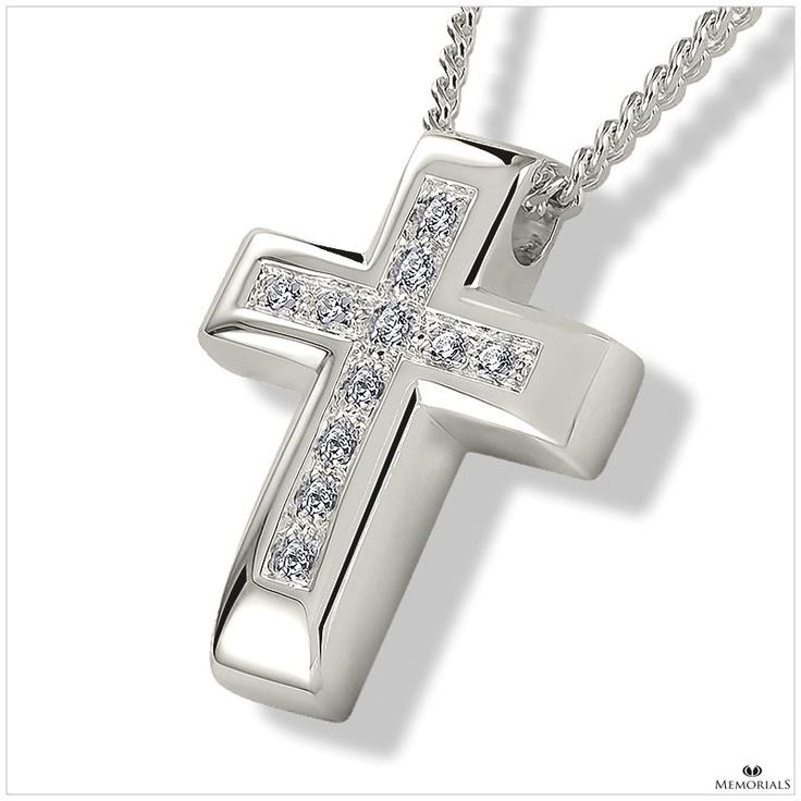 Crystal Cross Pendant Locket for Ashes