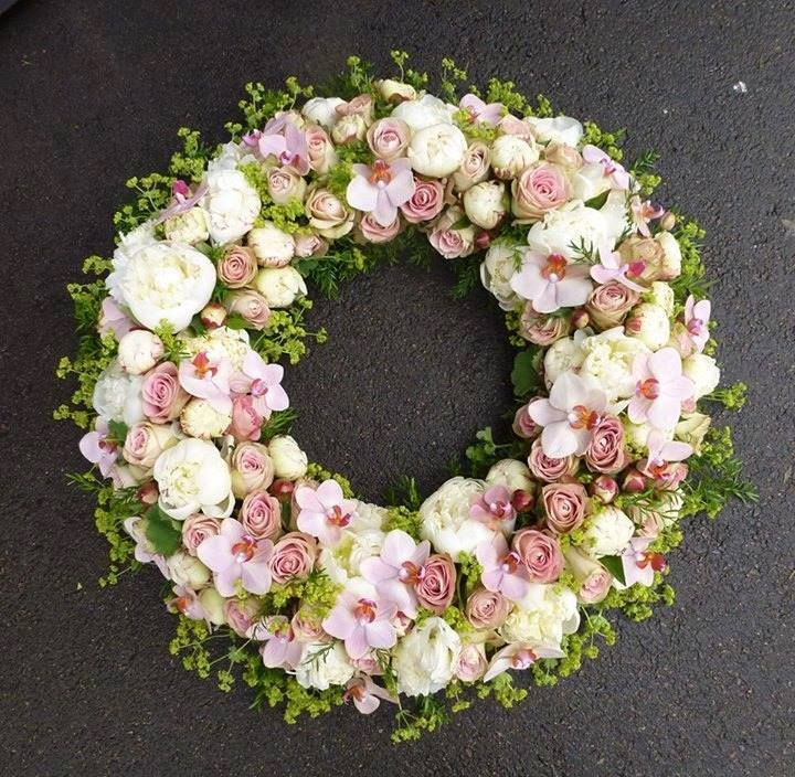 One of master florist Stein Are Hansen's many astonishing wreaths..