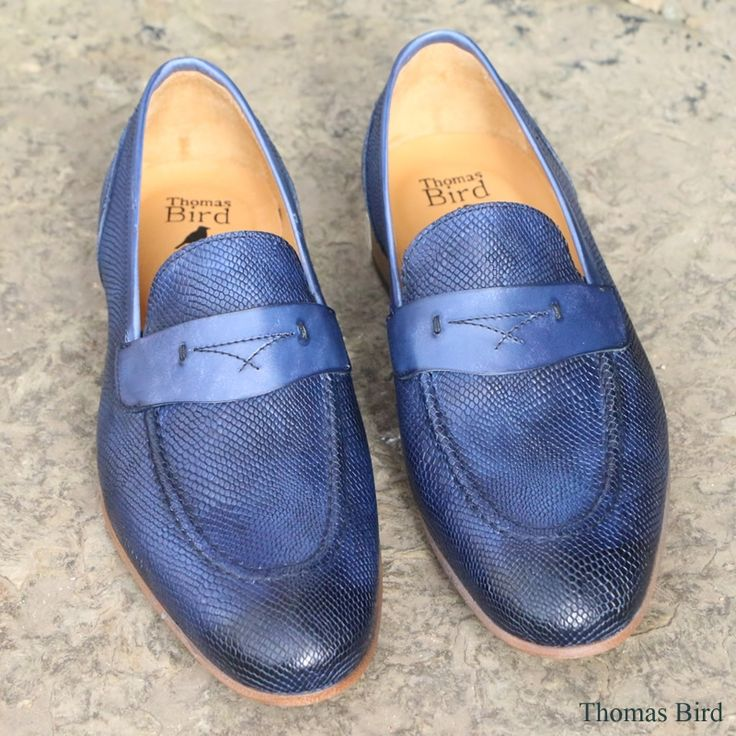leather and cotton Eletric Love denim loafers Blue Bird Shoes vJEOK4URC0