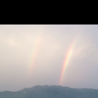 Double Rainbow in Padang, West Sumatera
