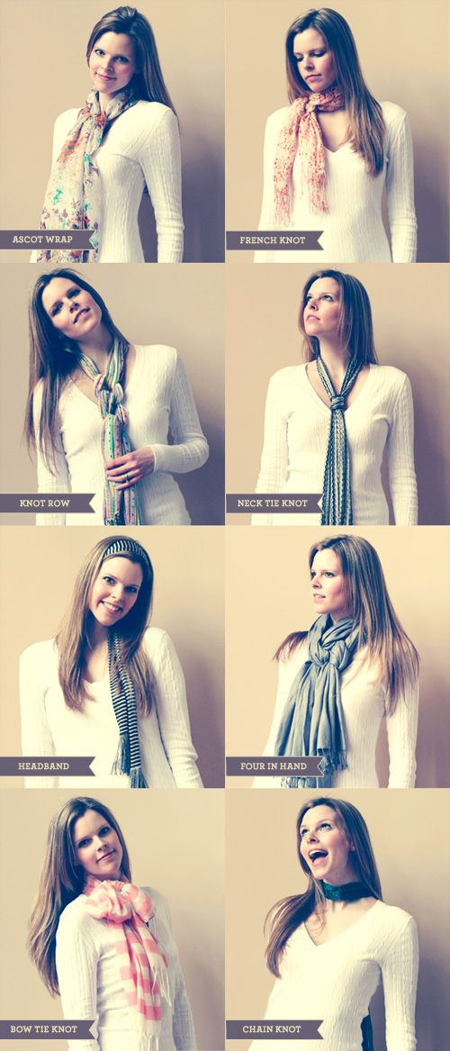 How to tie a scarf... Visit http://www.scarves.net/how-to-tie-a-scarf/ to learn 37 ways to tie a scarf!