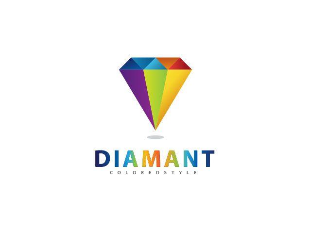 Colored Diamont Logo Design