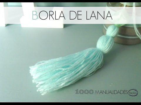 Cómo hacer borlas de lana para decoración o bisutería y complementos. Más información: Mi blog: http://milmanualidadesfaciles.blogspot.com.es/ Facebook: http...