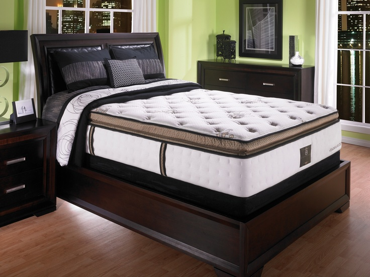 Stearns Foster York Place Plush Pillow Top Queen Mattress And Boxspring Set Midland Texasqueen